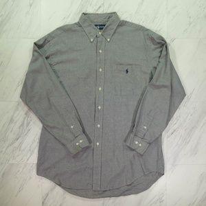 Ralph Lauren Yarmouth XL Black & White Button Up